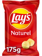 LAY S CHIPS NATUREL/SEL 175GR