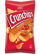 LORENZ CRUNCHIPS RED CHILI 150G 20p