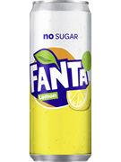FANTA ZERO LEMON SLEEK CANS 33CL 6pack