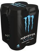 MONSTER 50cl ABSOLUTELY ZERO CANS 4pack