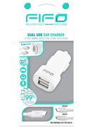 DUAL USB CAR CHARGER IPHONE 6 + USB CABLE (60021)