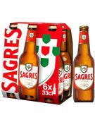 SAGRES BOUTEILLE 33CL  6-pack
