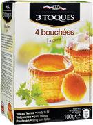 LES 3 TOQUES 4 BOUCHEES ROND 106GR
